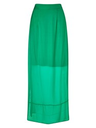 Phase Eight Cosima Silk Maxi Skirt Emerald
