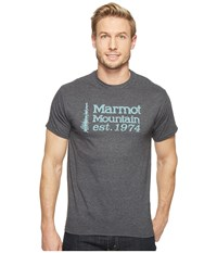 Marmot 74 Short Sleeve Tee Charcoal Heather Men's T Shirt Gray