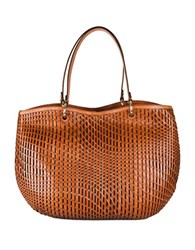Cole Haan Genevieve Open Weave Leather Tote Woodbury