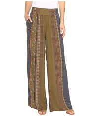 B Collection By Bobeau Arden Palazzo Pants Blue Print Women's Casual Pants