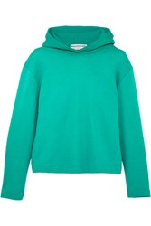 Balenciaga Suspended Cotton Terry Hooded Top Green