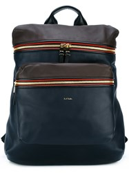Paul Smith Zipped Backpack Blue