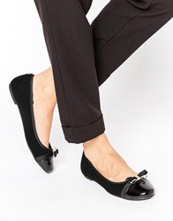 Head Over Heels By Dune Hadisia Black Patent Flat Shoes Black