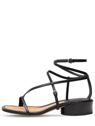 Salvatore Ferragamo 30Mm Egadi Leather Sandals Black
