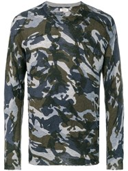 Zadig And Voltaire Kennedy Camouflage Sweater Blue