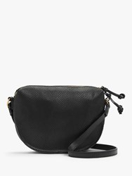 And Or Medium Zip Top Leather Cross Body Bag Black Snake