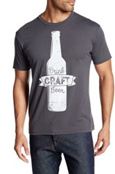 Fifth Sun Drink Craft Beer Tee Gray