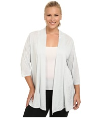 Marika Curves Plus Size Maria Cardigan With Cb Inset Heather Gray Dawn Women's Workout