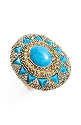 Women's House Of Harlow 1960 'Ruins' Cocktail Ring Turquoise
