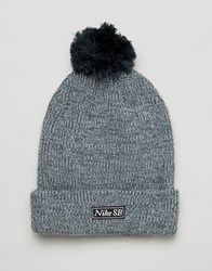 Nike Sb Pom Marl Beanie In Grey 806092 364 Grey Green