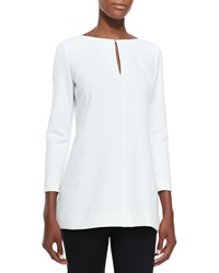 Lela Rose Tunic Blouse With Keyhole Ivory