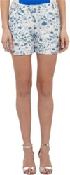 Alexander Lewis Shibori Patterned Shorts Blue