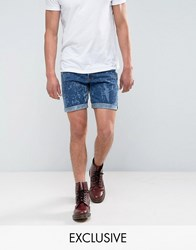 Reclaimed Vintage Revived Levis Shorts With Bleach Wash Blue