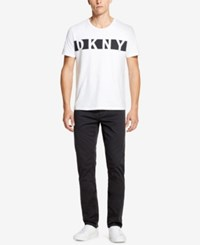 Dkny Relaxed Straight Fit Stretch Twill Pants Meterorite