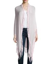 Minnie Rose Long Fringe Trim Cotton Wrap