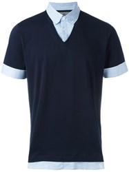 Brunello Cucinelli Layered T Shirt Blue