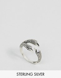 Regal Rose Mercy Eagle Claw Wrap Ring Silver