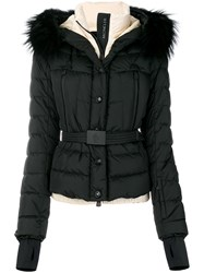 Moncler Grenoble Padded Fur Jacket Feather Down Polyamide Iii Black