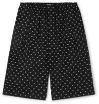 Balenciaga Logo Jacquard Cotton Poplin Shorts Black