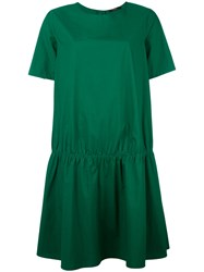 Odeeh Gathered T Shirt Dress Green