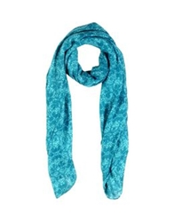 Duck Farm Oblong Scarves Turquoise