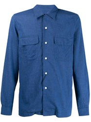 Dell'oglio Patch Pocket Shirt Blue
