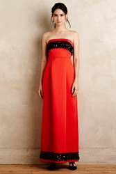 Tracy Reese Beaded Scarlet Gown Red