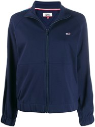 Tommy Jeans Zip Front Track Top Blue
