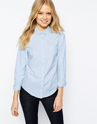 Jack Wills Curved Collar Shirt Blue