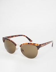 Warehouse Tortoise Shell Cat Eye Sunglasses Brown