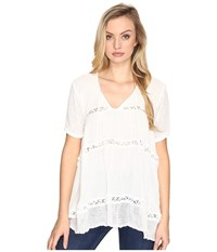 Jens Pirate Booty La Bebe Tunic White Women's Blouse