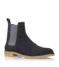 Bottega Veneta Suede Desert Boots Male Light Grey