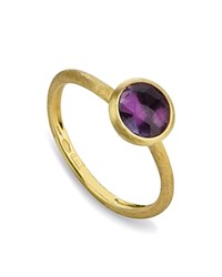 Marco Bicego Amethyst Stackable Jaipur Ring Purple Gold