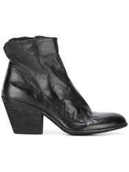 Officine Creative Block Heel Ankle Boot Black