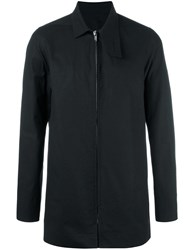 Rick Owens Patch Pea Coat Black