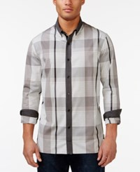 Sean John Plaid Print Shirt