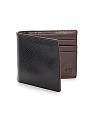 Will Leather Goods Pebbled Leather Billfold Wallet Black Brown