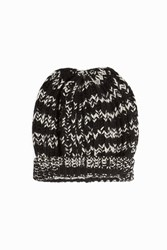Missoni Melange Knit Beanie Black