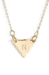 Women's Nashelle 14K Gold Fill Initial Triangle Necklace 14K Gold Fill N