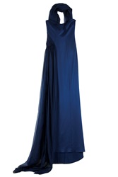 Safiyaa Strapless Neck Scarf Gown