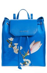 Ted Baker London Baileee Harmony Print Backpack Blue Bright Blue