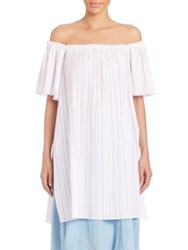 Adam By Adam Lippes Pleated Off The Shoulder Tunic White