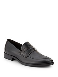 Bacco Bucci Leather Loafers Black