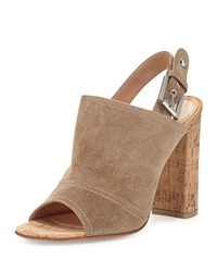 Suede Slingback Mule Sandal Bisque Gianvito Rossi