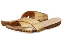 Enzo Angiolini Flyby Light Gold Leather Women's Slide Shoes