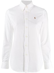 Polo Ralph Lauren Embroidered Logo Shirt White