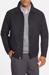 Men's Cutter And Buck 'Roosevelt' Classic Fit Water Resistant Full Zip Jacket Black