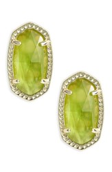 Kendra Scott Women's Ellie Birthstone Stud Earrings August Peridot Illusion