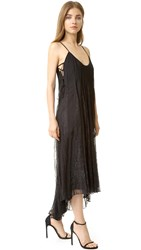 Haute Hippie Lace Inset Dress Black