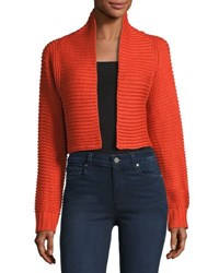 Dance And Marvel Open Front Crop Cardigan Red